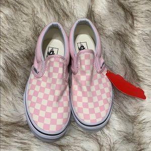 Kids pink slip on vans